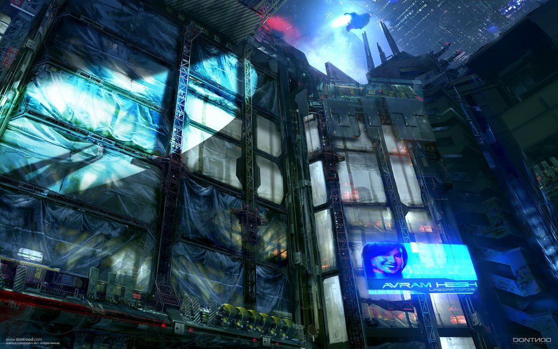 Cityscapes futuristic artwork wallpaper