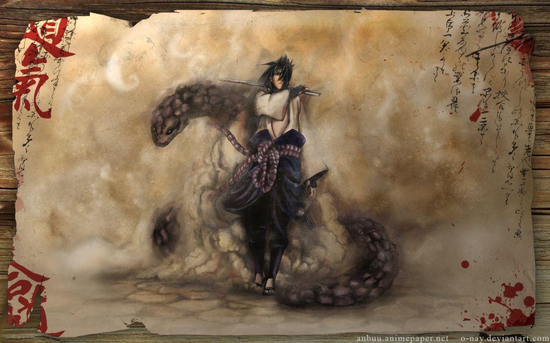Uchiha sasuke snakes naruto shippuden wallpaper