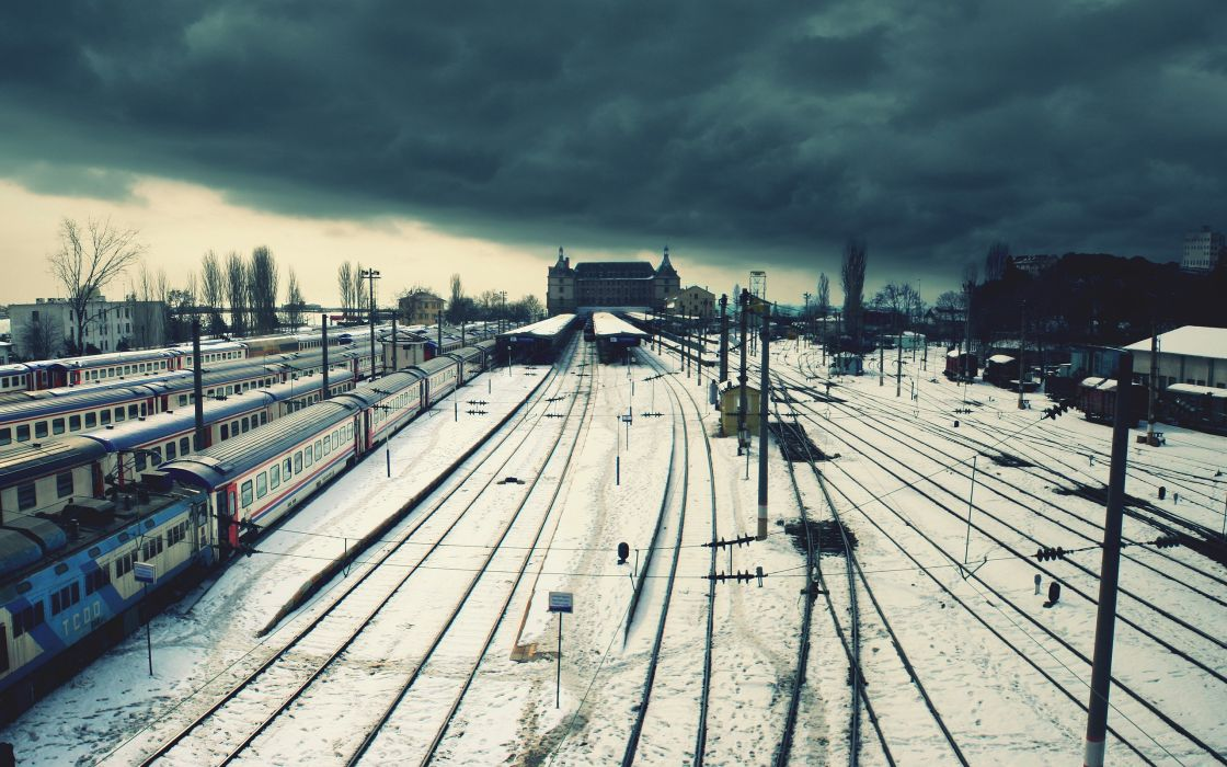 Clouds snow trains istanbul wallpaper