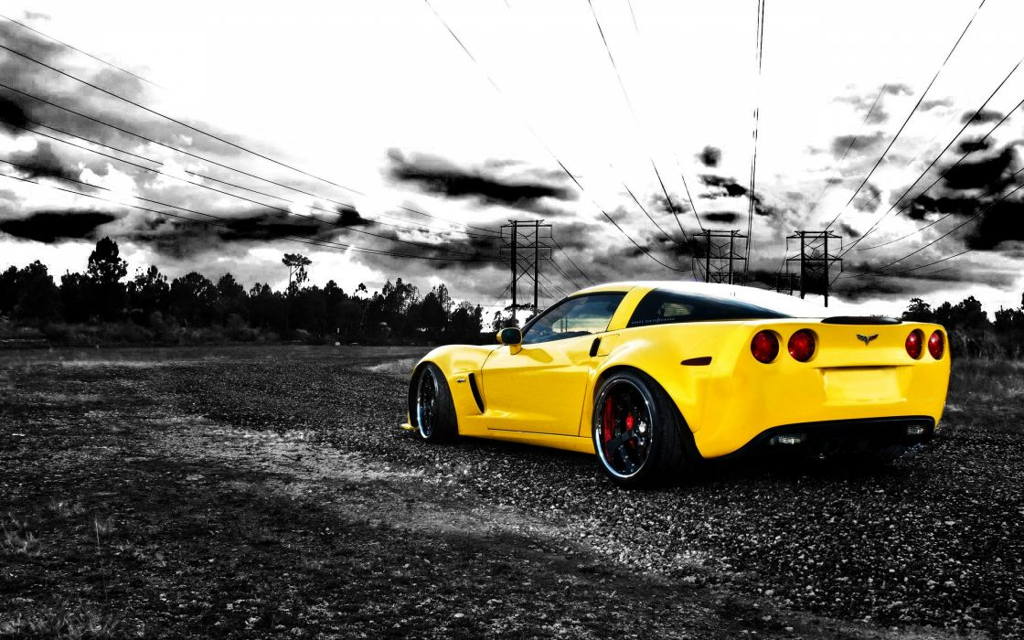 Cars Vehicles Chevrolet Corvette Selective Coloring Corvette Sport