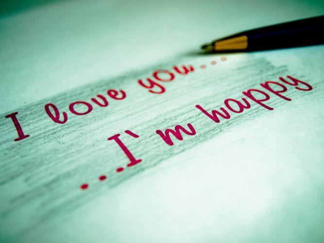 Love happy letters wallpaper