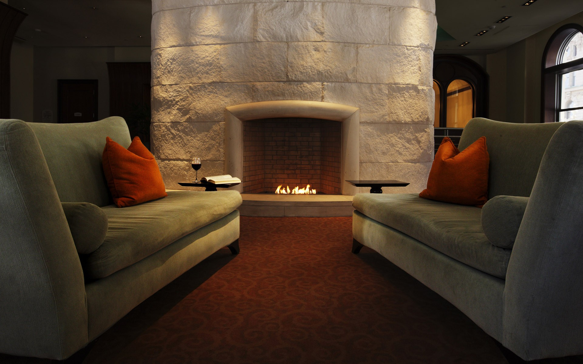 Couch Architecture Interior Furniture Fireplace Designs