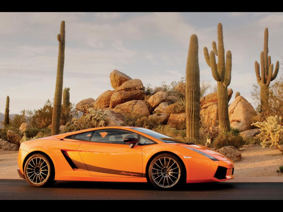 Cars orange lamborghini cactus vehicles supercars lamborghini gallardo side view lamborghini gallardo lp superleggera wallpaper