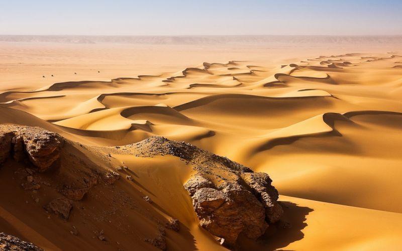 Landscapes desert sand dunes wallpaper