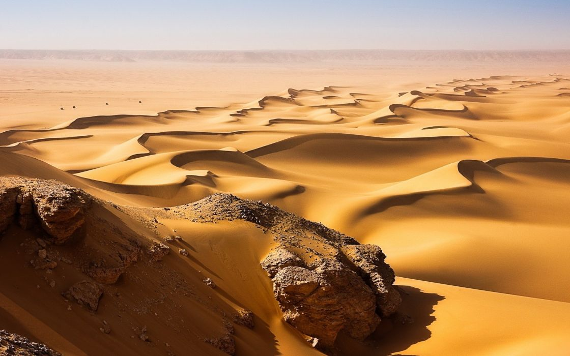 Landscapes desert sand dunes wallpaper