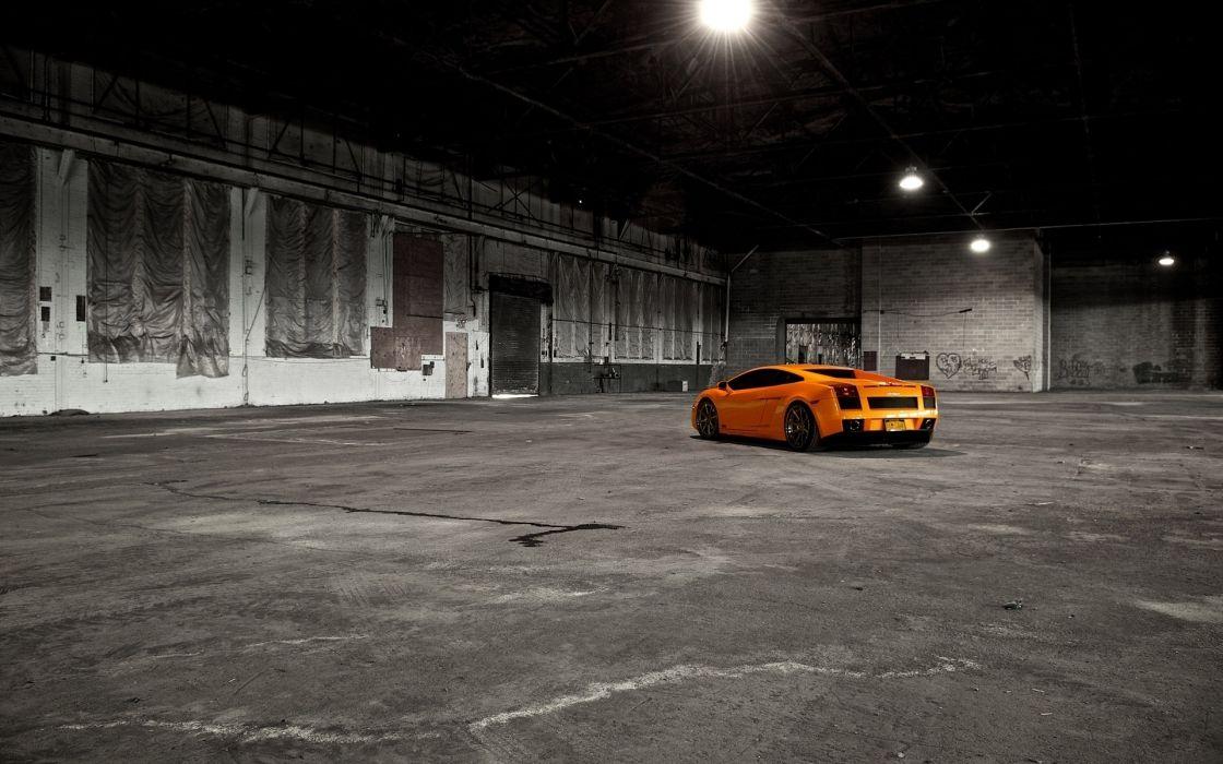 Cars orange lamborghini gallardo wallpaper