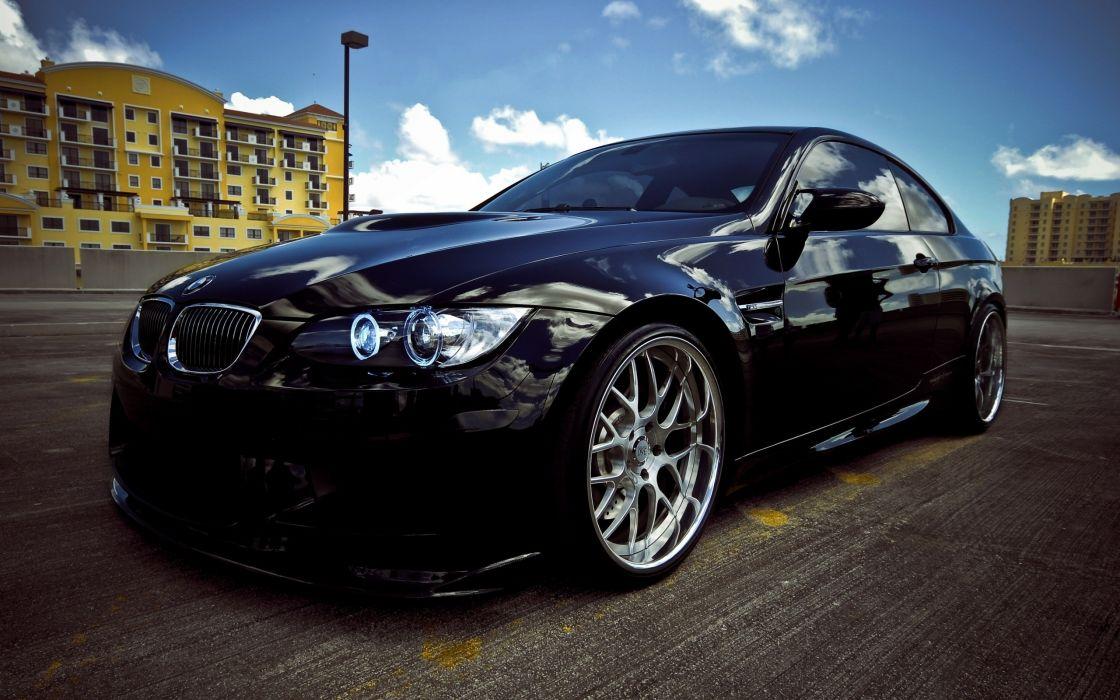 Bmw black cars wallpaper