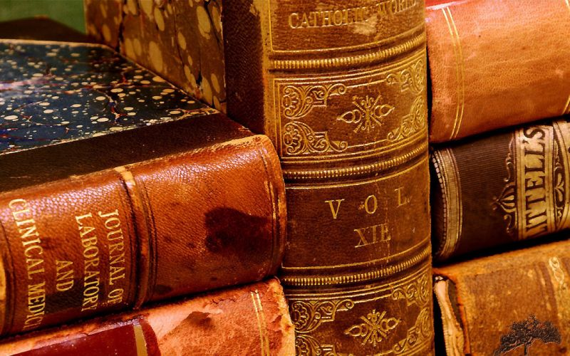 Old books wallpaper