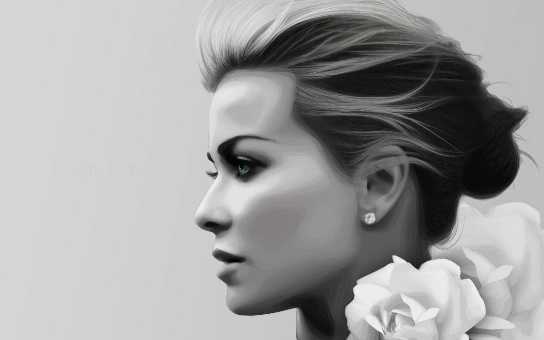 Women models carmen electra selective coloring profile faces wallpaper