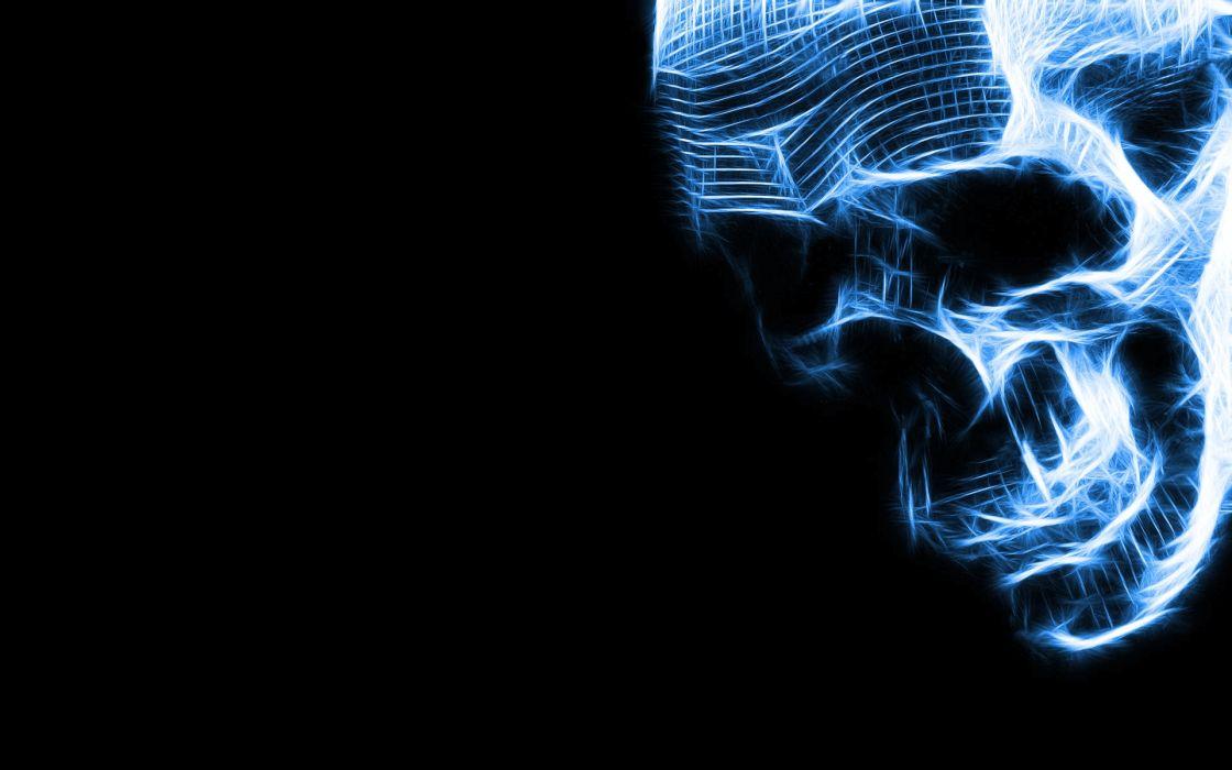 Skulls blue neon genesis evangelion wallpaper