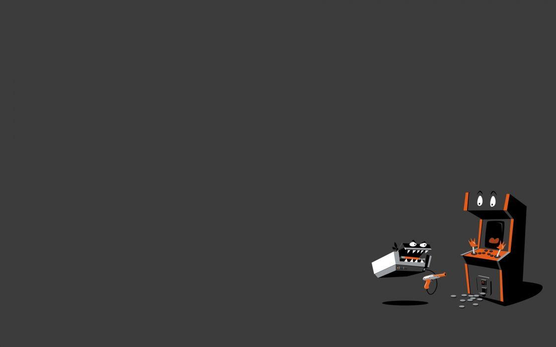 Video games minimalistic machines fun art wallpaper