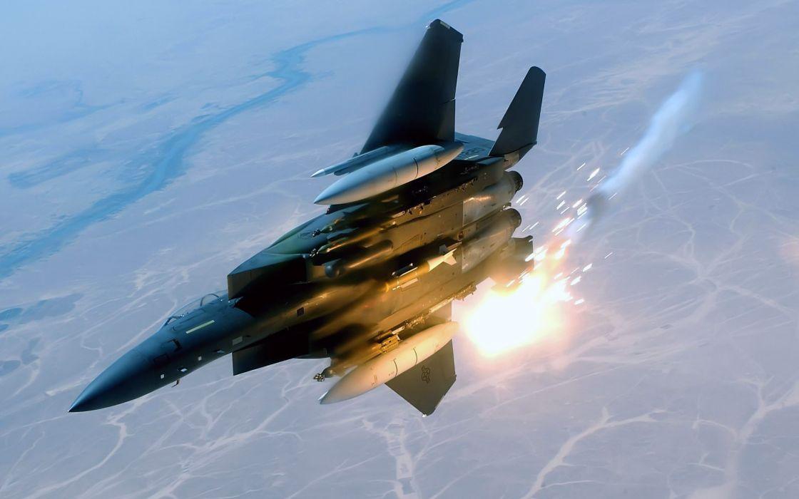 Aircraft military vehicles flares f eagle wallpaper
