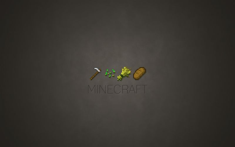 Video games minimalistic minecraft wallpaper