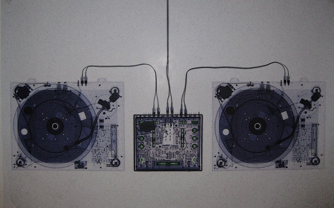 Technology turntables xray wallpaper