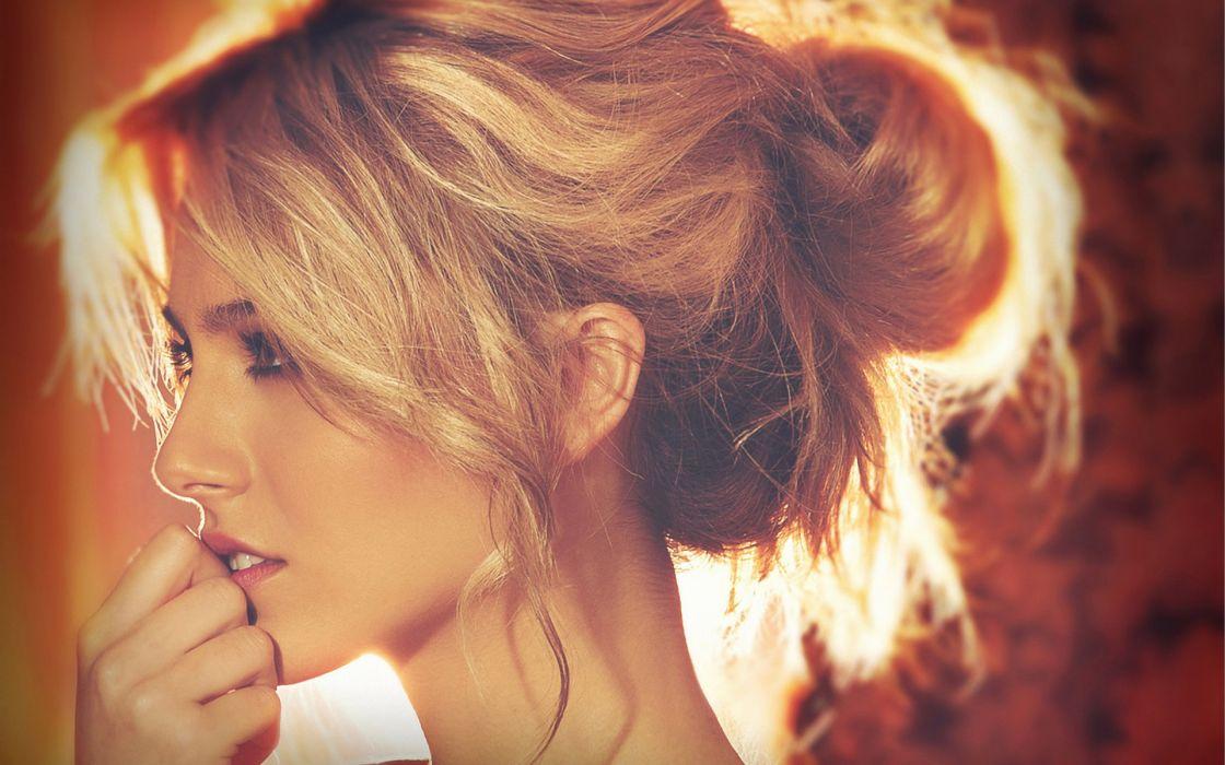 Blondes women eyes petra nemcova hair in face wallpaper