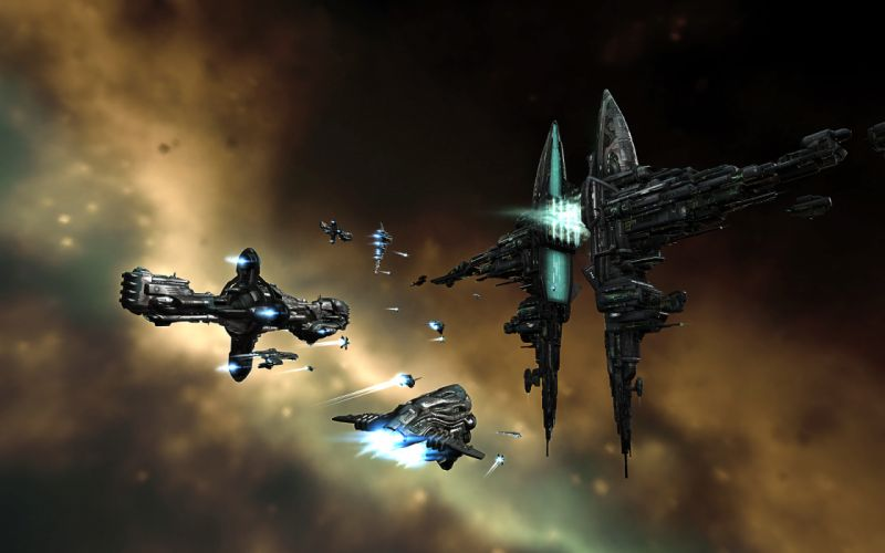 Eve online gallente hyperion spaceships vehicles myrmidon wallpaper