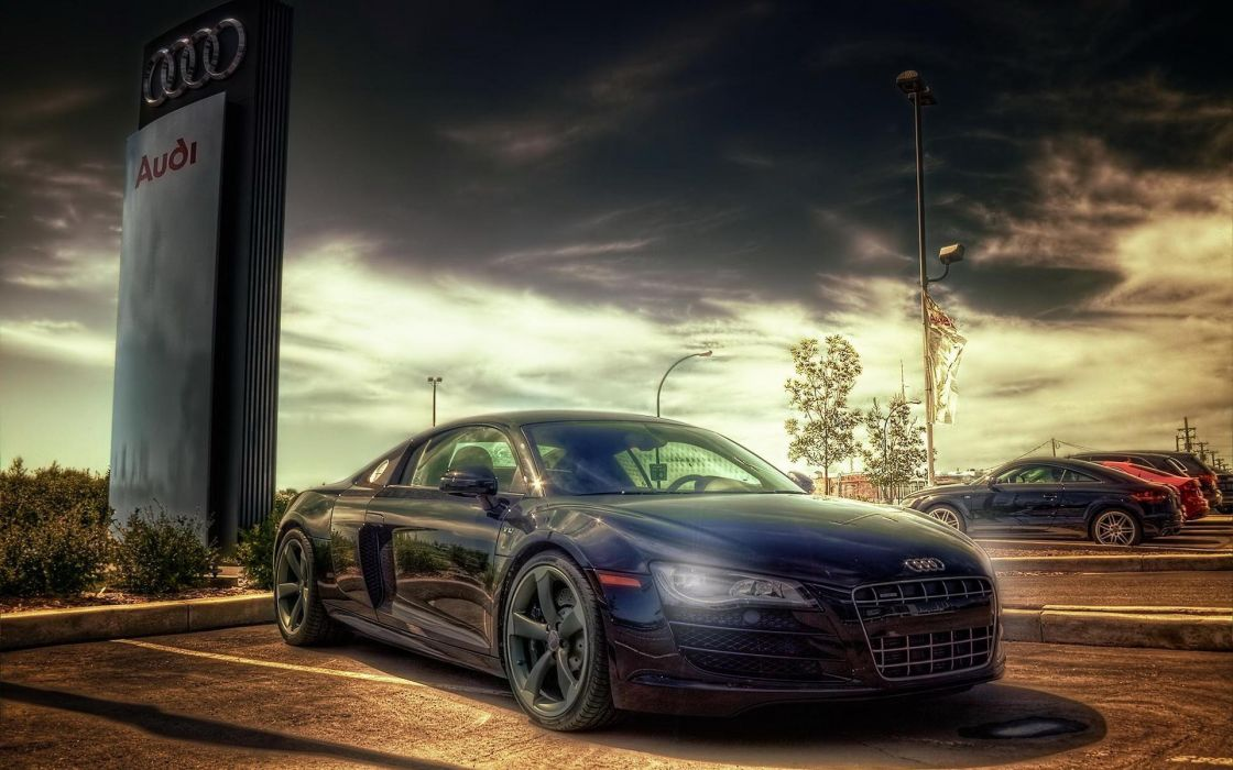Cars hdr photography dark sky audi tt wallpaper