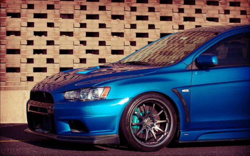 Blue cars lancer tuning mitsubishi lancer evolution x wallpaper