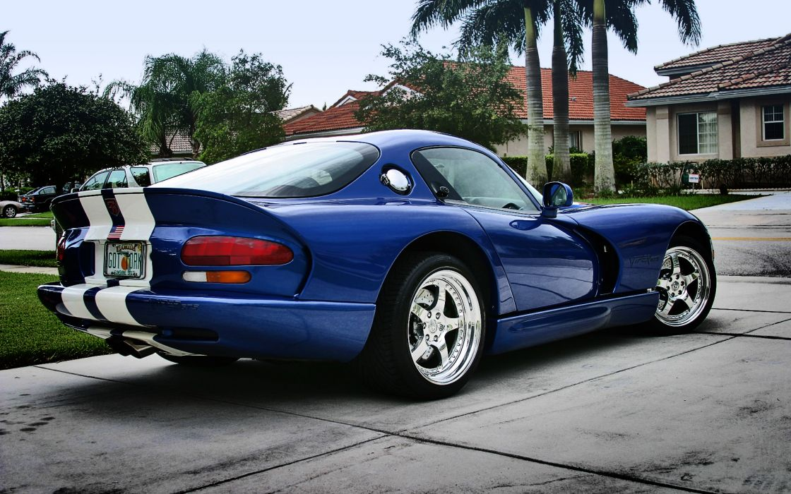 Blue cars flags dodge backview vehicles dodge viper american flag wallpaper