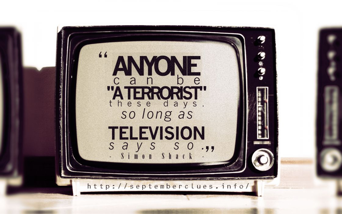 Tv text design typography propaganda terrorists artwork television wallpaper