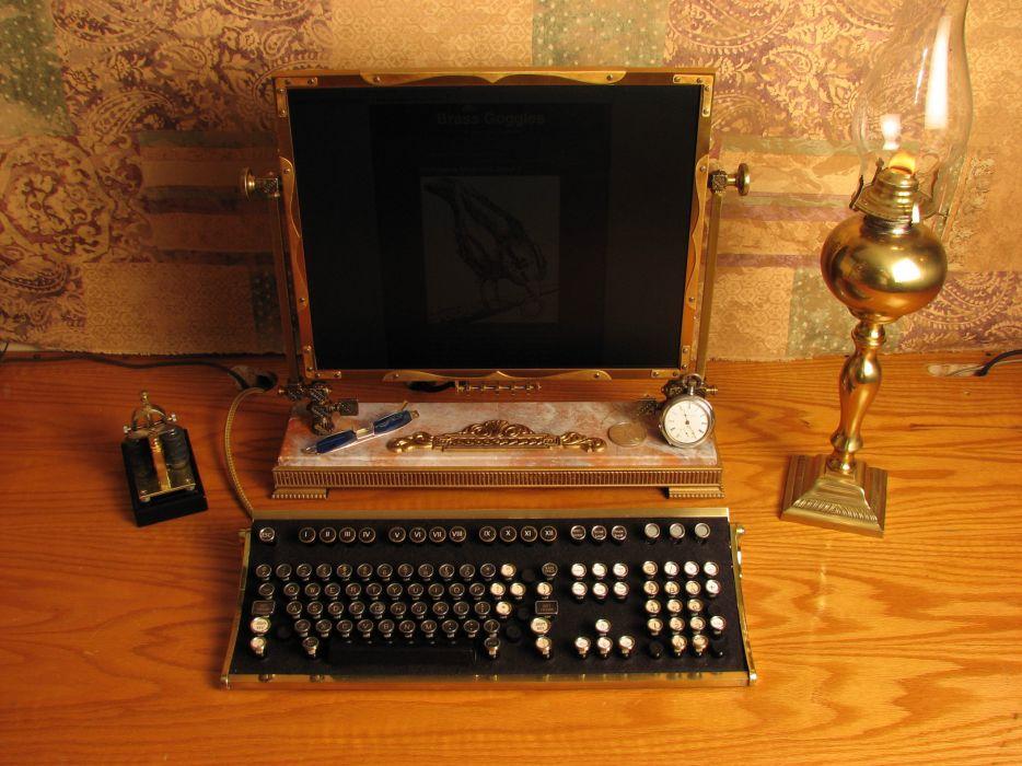 Steampunk keyboards wallpaper