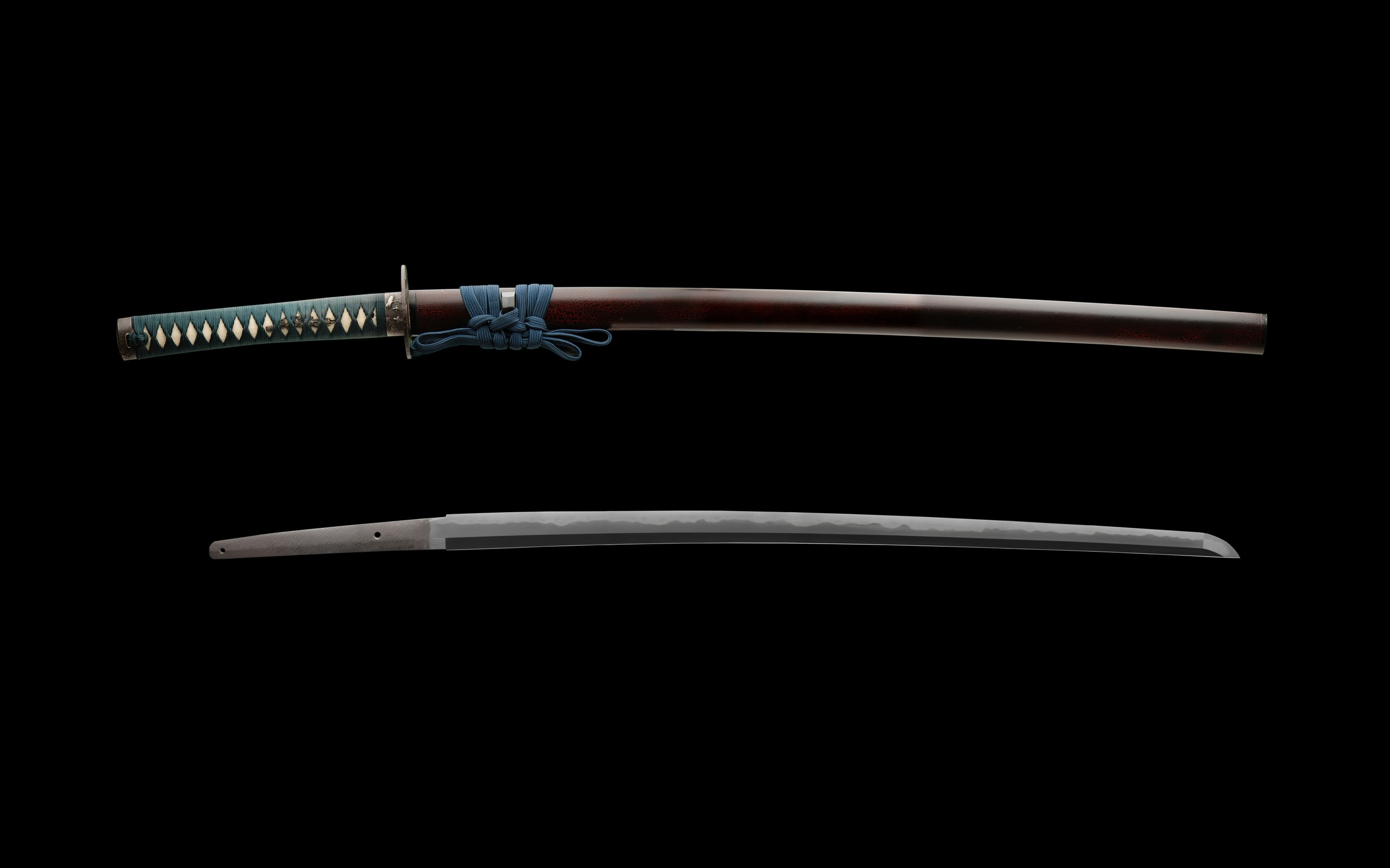 Katana Weapons Blade Swords Black Background Wallpaper