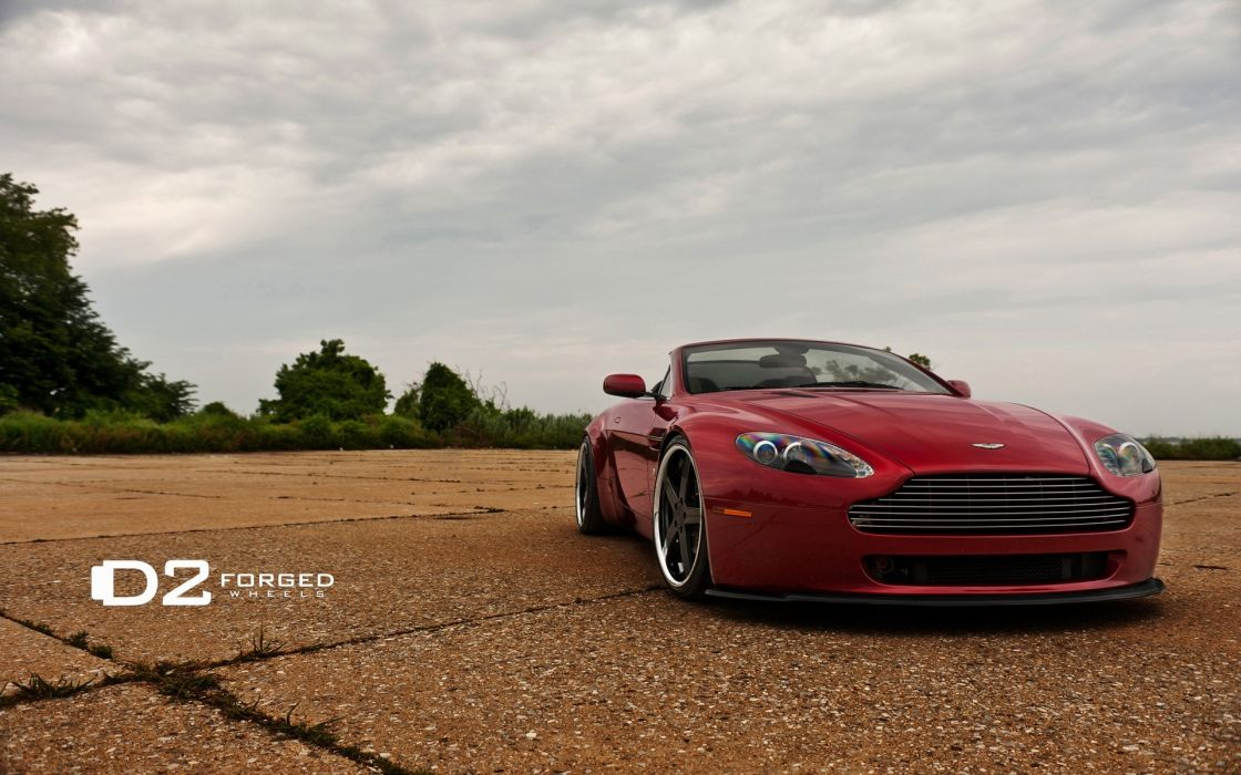 Red cars aston martin vehicles tuning convertible wheels sport cars luxury sport cars speed wallpaper