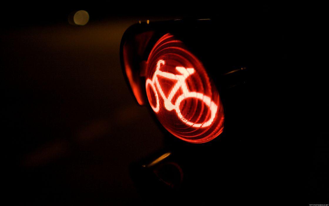 Light bike roads street lights street signs cities wallpaper