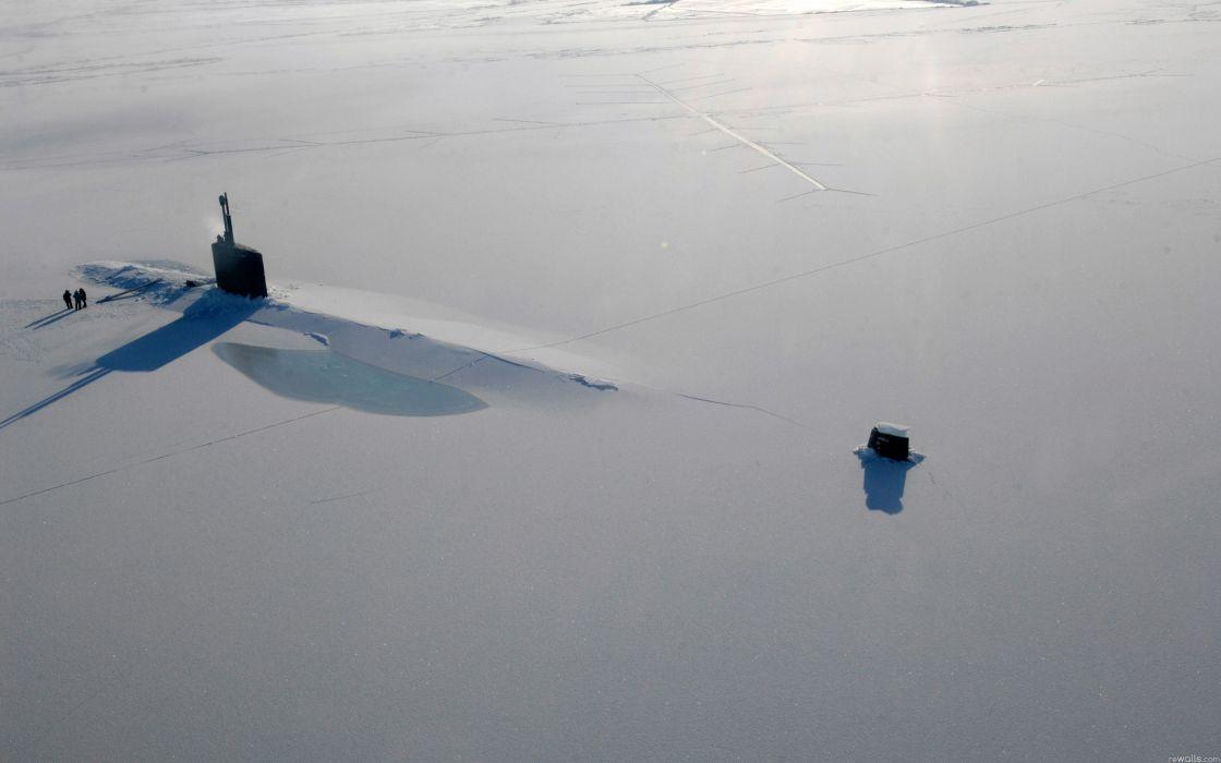Nature snow submarine wallpaper