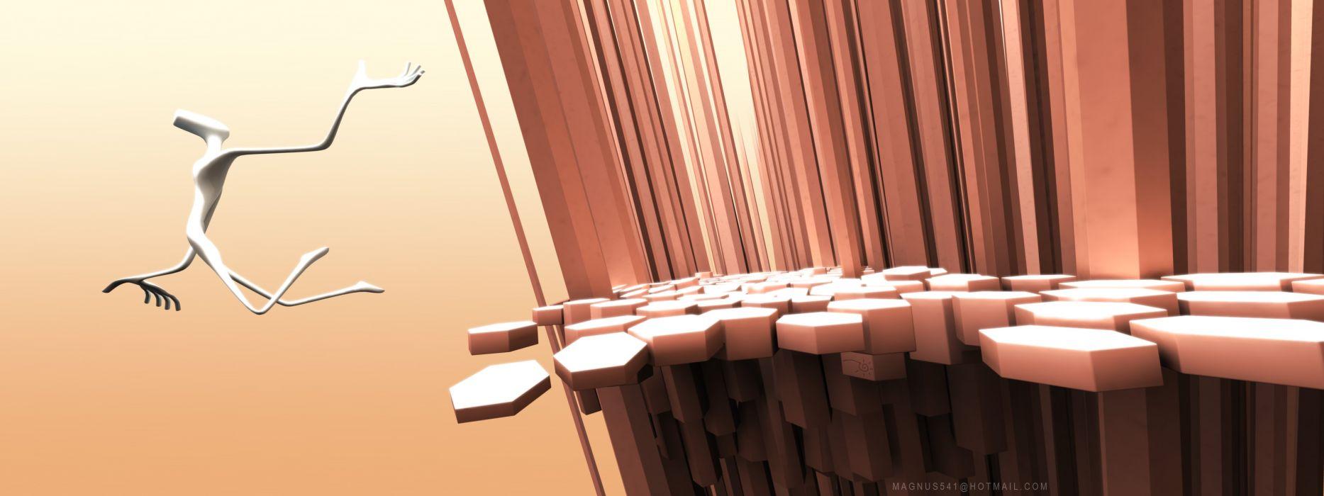 D view edge world digital art wallpaper