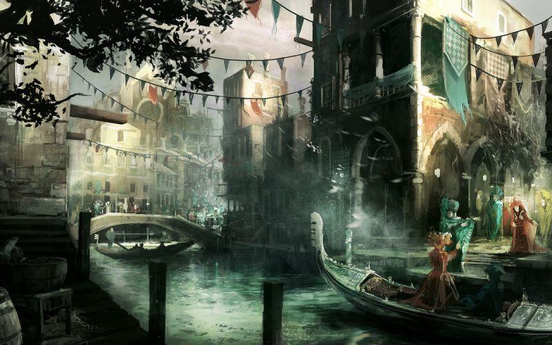 Video games assassins creed venice carnivals assassins creed gondolas wallpaper