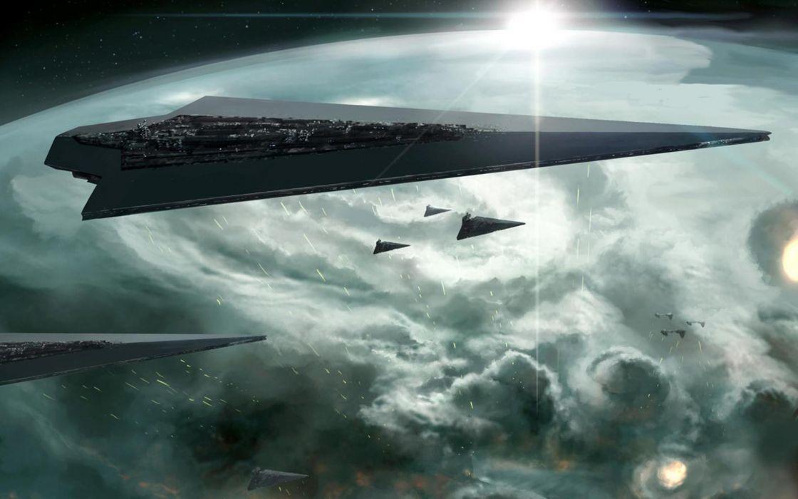 Star wars outer space artwork star destroyer wallpaper