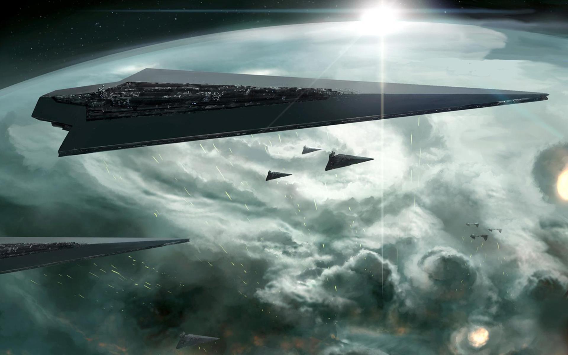 Star Wars Outer Space Artwork Star Destroyer Wallpaper 1920x1200 10227 Wallpaperup