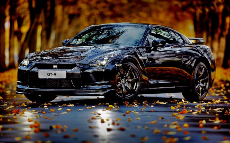 Autumn cars leaves nissan skyline gtr wallpaper