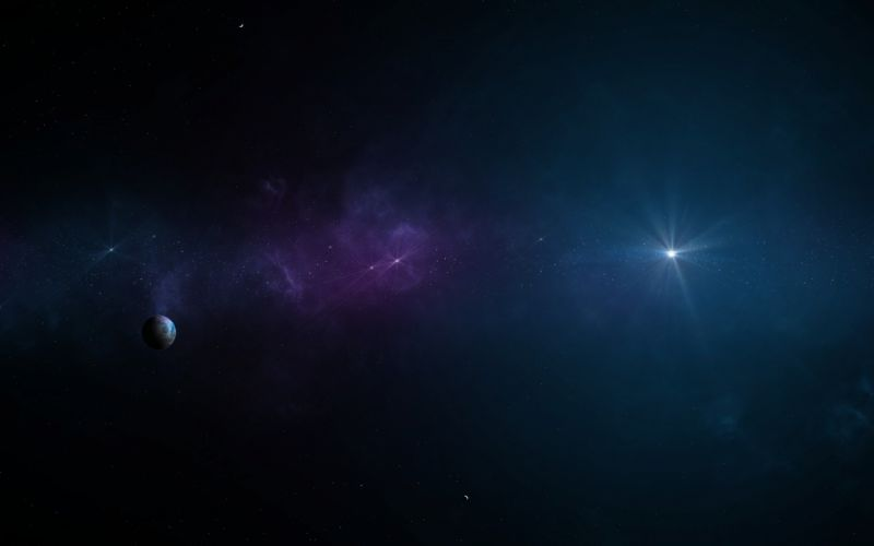 Outer space stars planets skyscapes wallpaper