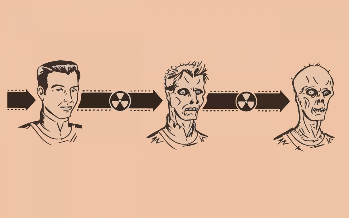 Fallout retro ghoul retro art wallpaper