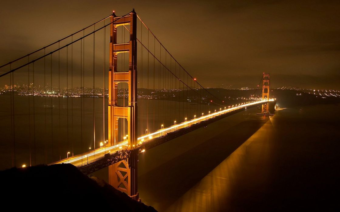 Night golden gate bridge san francisco wallpaper