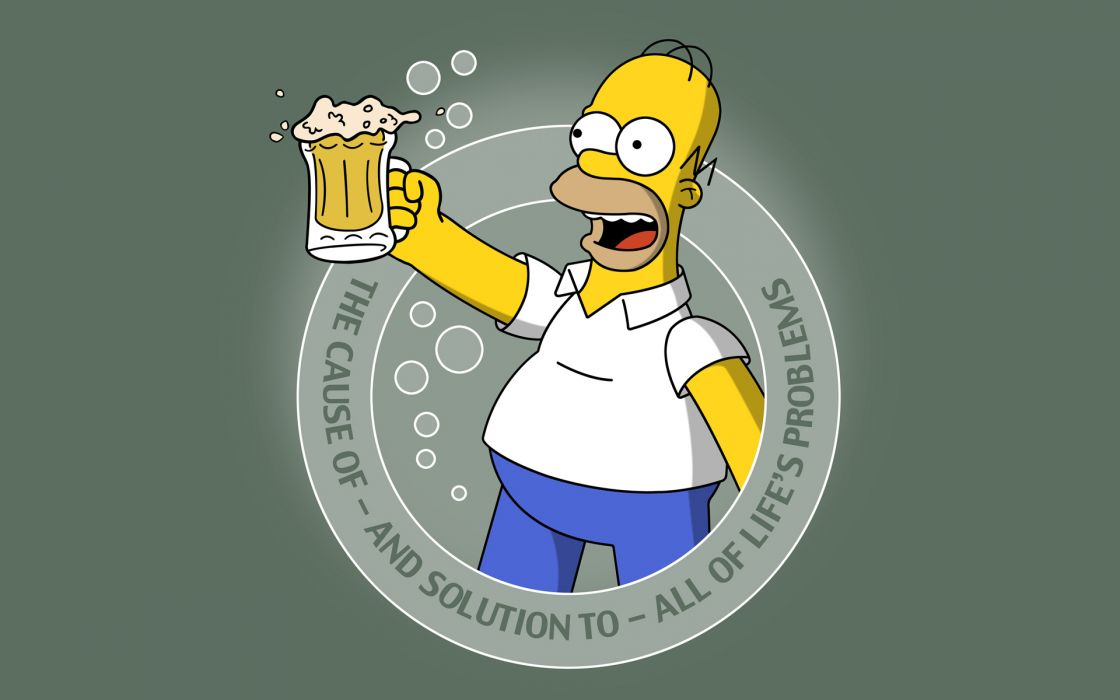 Homer simpson the simpsons wallpaper