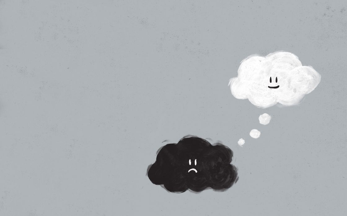 Paintings clouds happy sad thoughts wallpaper
