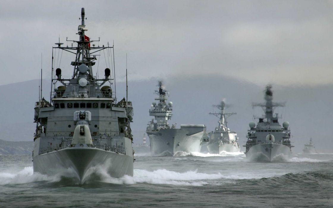 Men navy scenes wallpaper