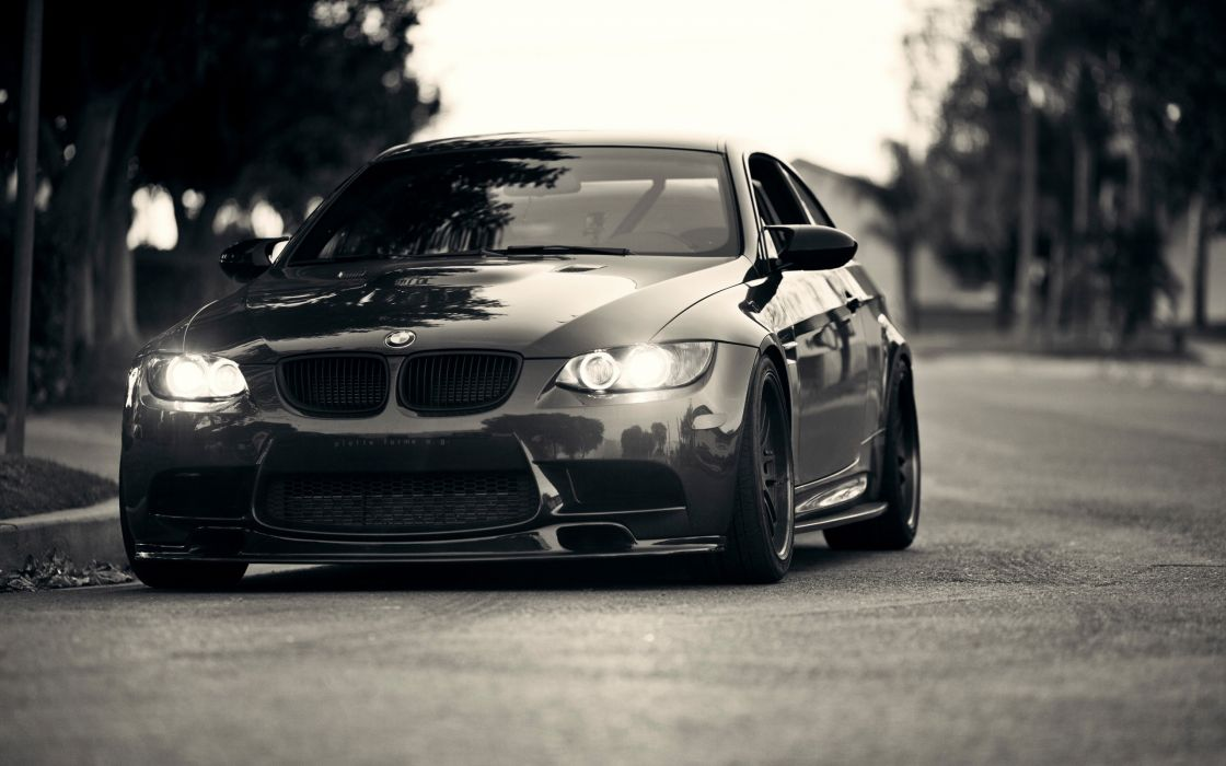 Cars grayscale roads bmw m wallpaper