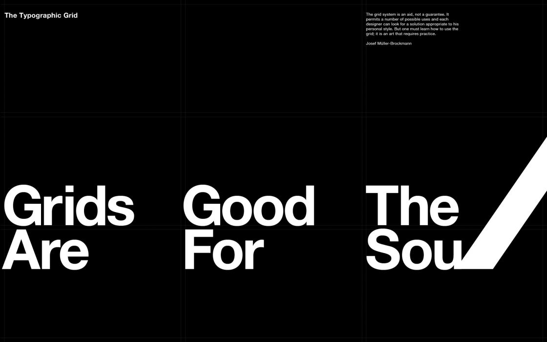 Typography grid wallpaper