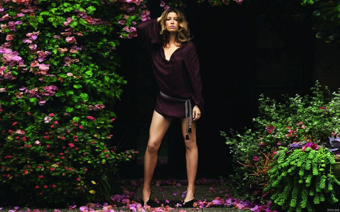 Women jessica biel miniskirts  fashion photography wallpaper