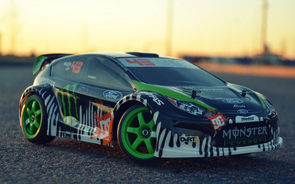 Ken block ford fiesta dc shoes toy cars traxxas wallpaper