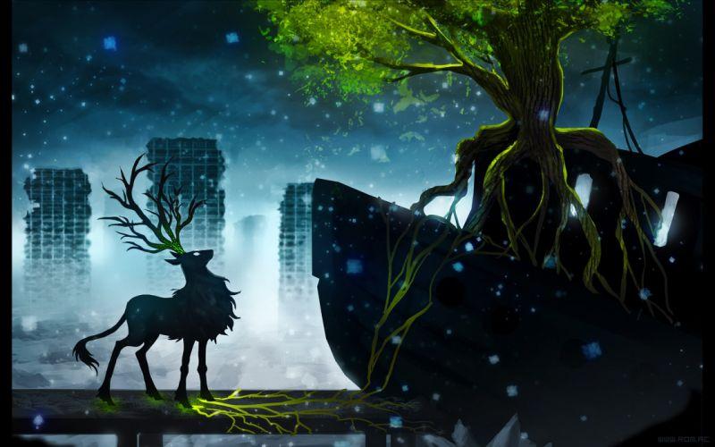 Fantasy art boats vehicles reindeer romantically apocalyptic vitaly s alexius wallpaper