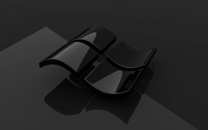 Gloss microsoft windows logos wallpaper