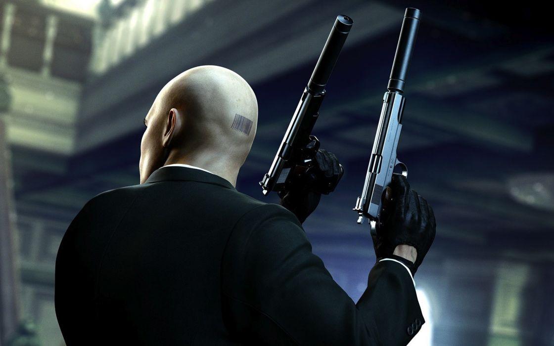 Video games guns hitman hitman absolution agent 47 wallpaper