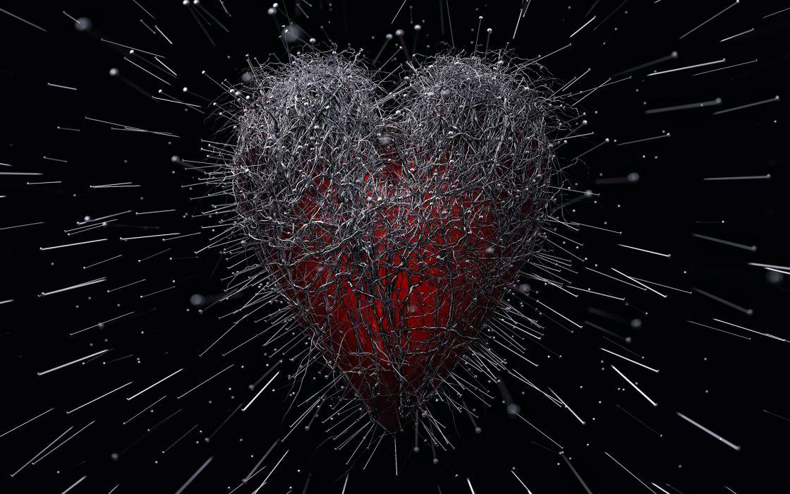 Pin hearts wallpaper