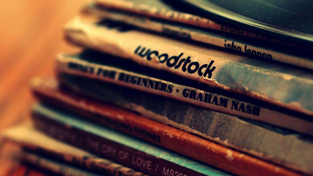 Music record vinyl woodstock wallpaper