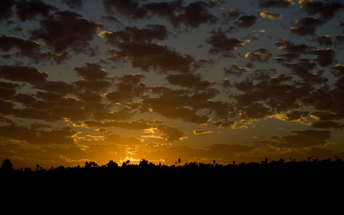 Sunset clouds landscapes silhouette windows vista skyscapes wallpaper